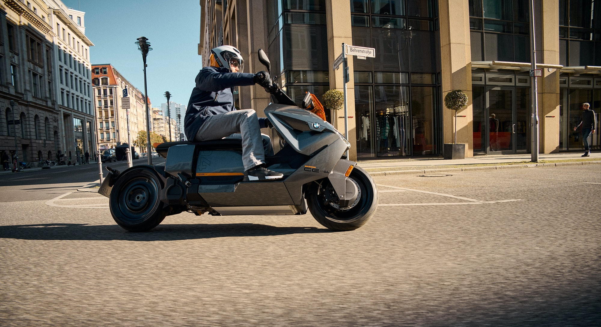 A picture of BMW's CE 04 electric scooter. E-scooter. Electric vehicle. EV. EVs. Electric cars.