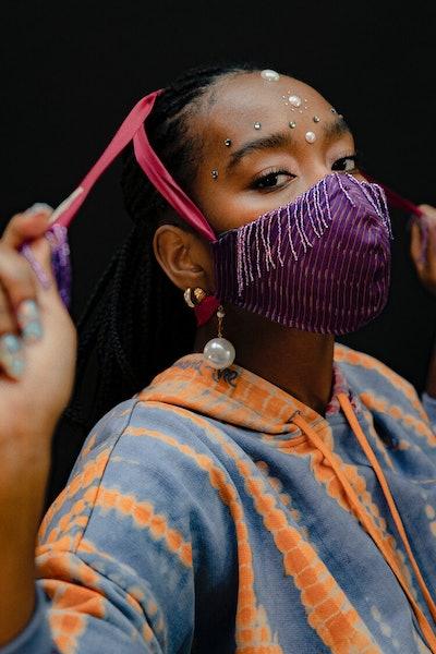 Beaded Fringe Mask