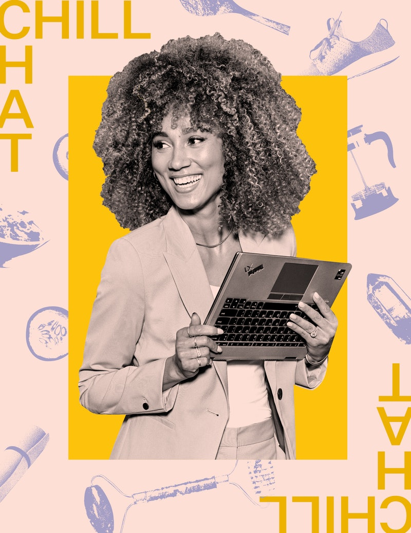 Ally Love holds a Lenovo laptop. In this interview Peloton's Ally Love describes her morning routine...
