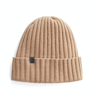 Wool Cashmere Ribbed Beanie