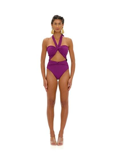 Amina Purple One Piece Swimsuit