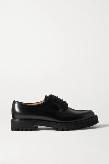 Shannon Glossed-Leather Brogues