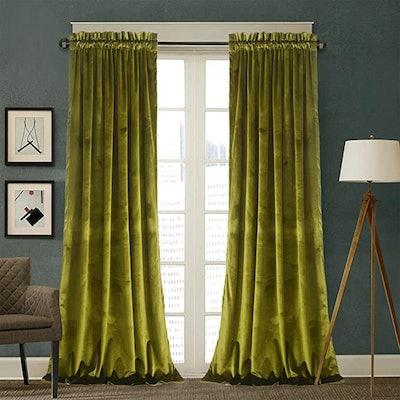 Roslynwood Velvet Curtains (Set of 2)