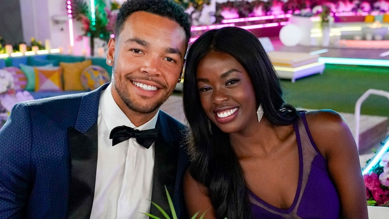 'Love Island' US couple Caleb and Justine, who are no longer together.