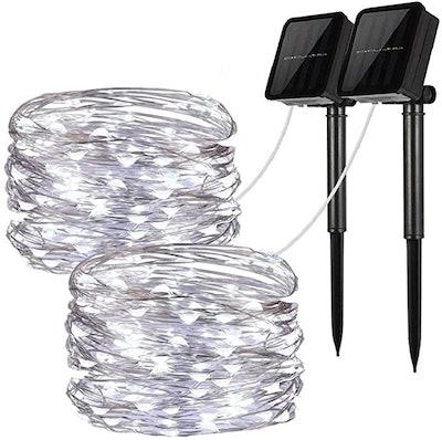 LiyuanQ Solar String Lights (2-Pack)