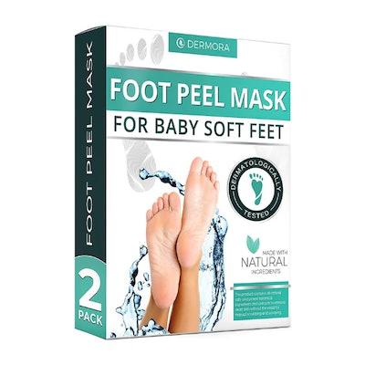 DERMORA Foot Peel Mask (2 Pack)