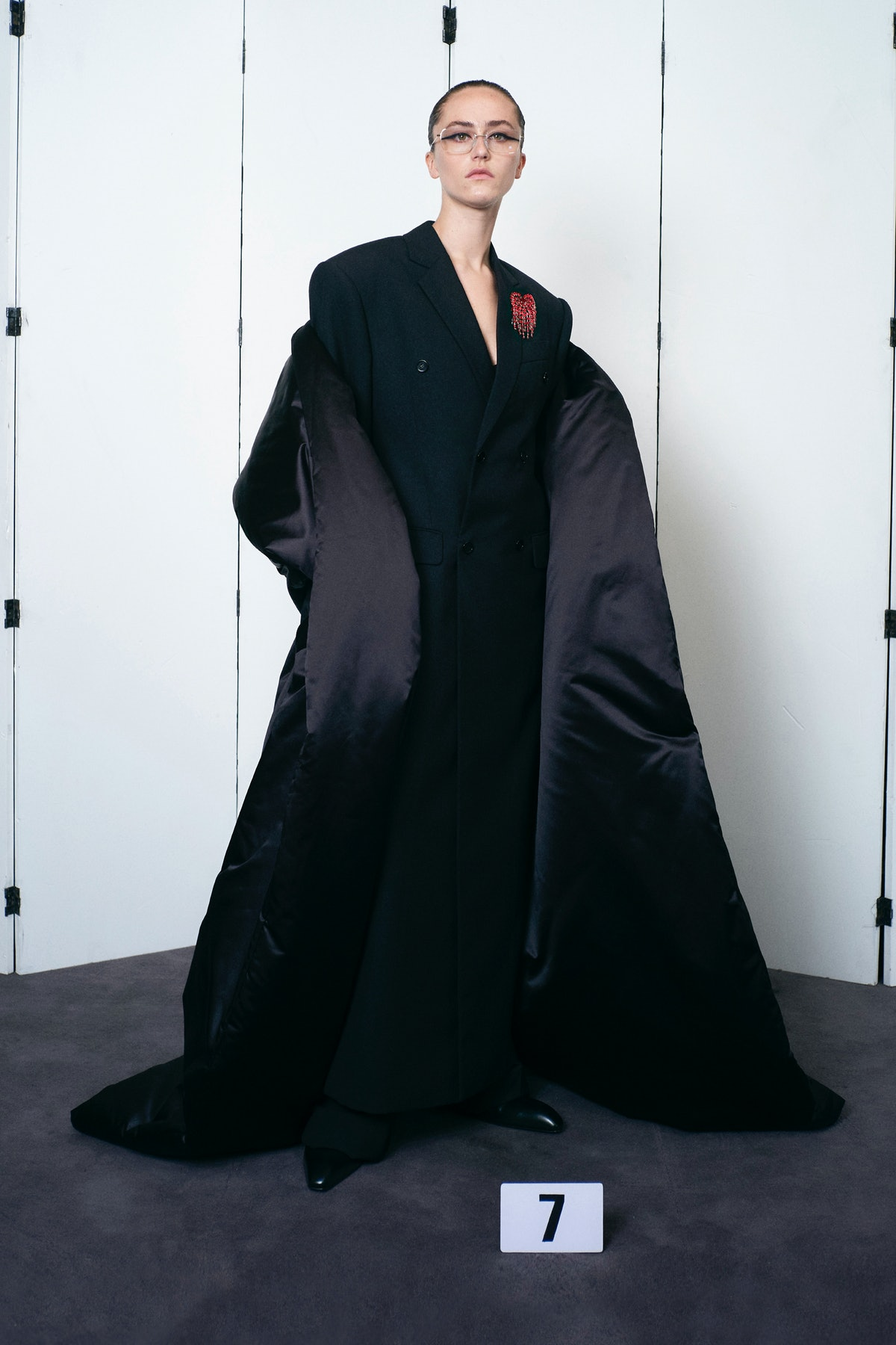 Ella Emhoff wearing Balenciaga couture