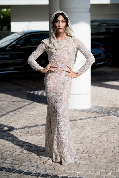 MJ Rodriguez is seen during the 74th annual Cannes Film Festival at on July 06, 2021 in Cannes, France.
