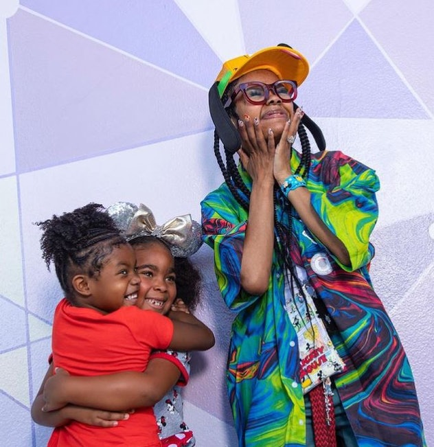 Teyana Taylor, her daughter, Iman Tayla and her daughter's friend at Magic Kingdom on May 11.