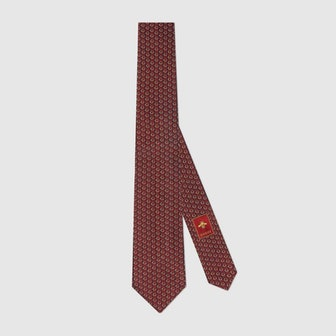 Interlocking G Horsebit Silk Tie
