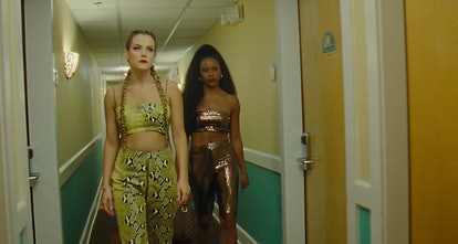 'Zola' stars Taylour Paige and Riley Keough.