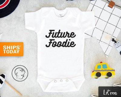 Future Foodie Baby Onesie