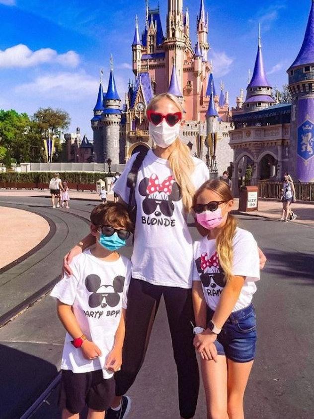 Kameron Westcott, her kids, Hilton and Cruise Westcott, at Magic Kingdom on March 20.
