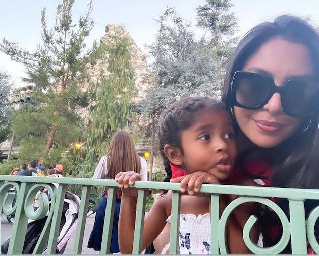 Vanessa Bryant and her daughter, Bianka, 4, at Disneyland.