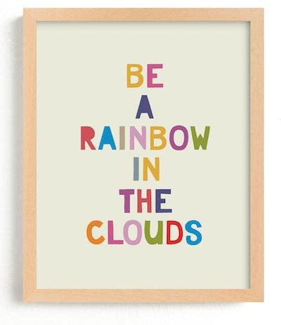 Rainbow in a Cloud Art Print