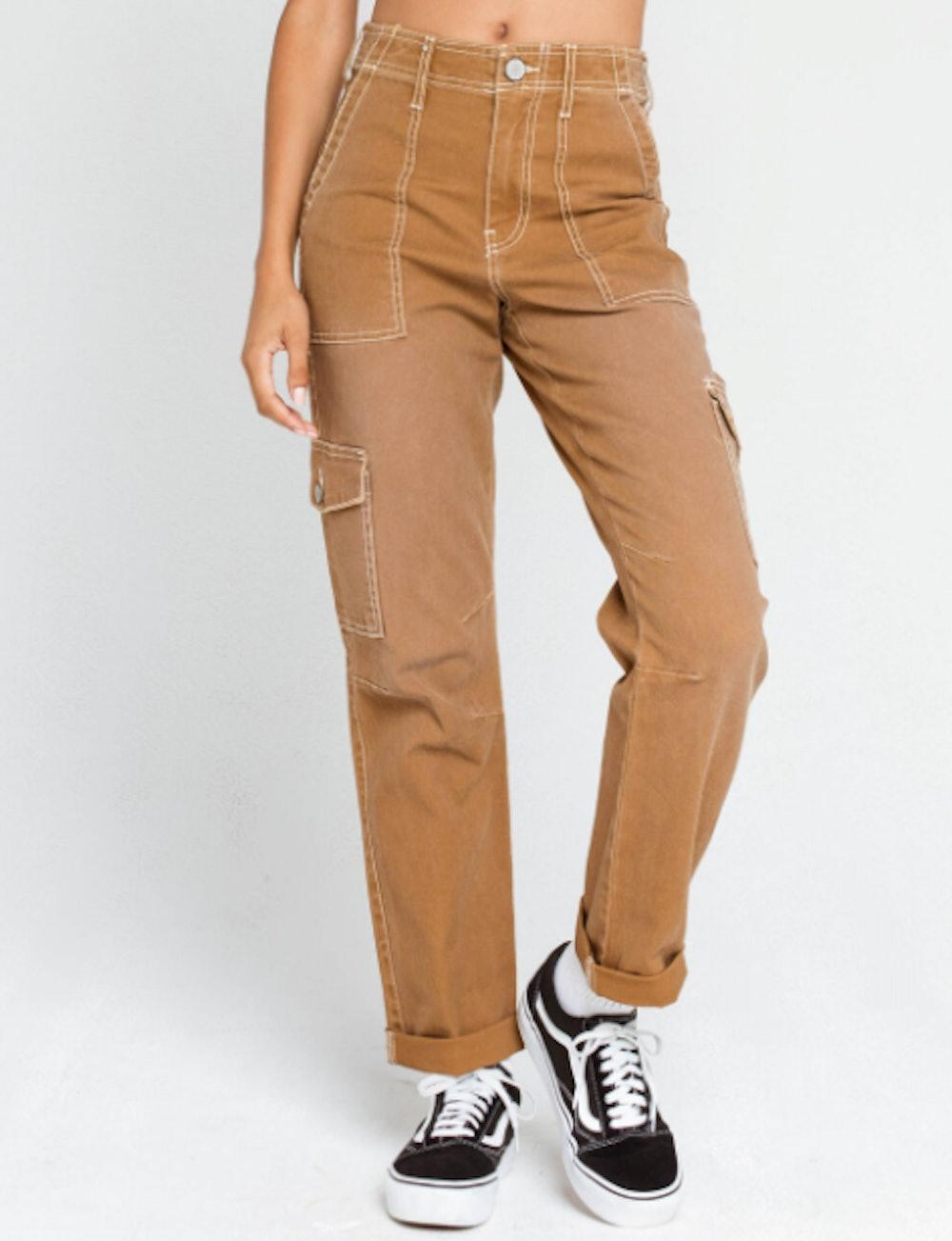 Roll Cuff Womens Cargo Pants