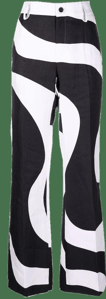 Swirl Print Trousers