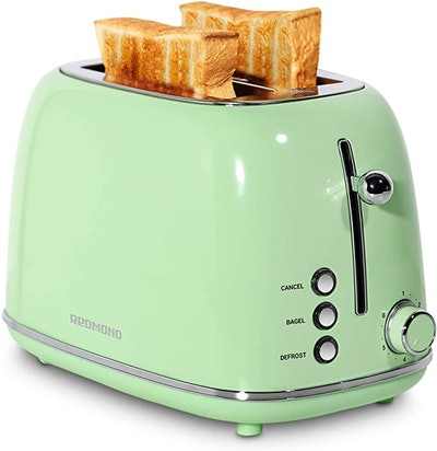 REDMOND 2 Slice Retro Stainless Steel Toaster