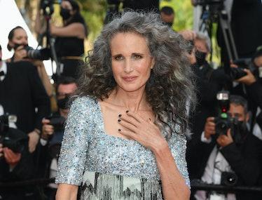 Andie MacDowell Hair Cannes