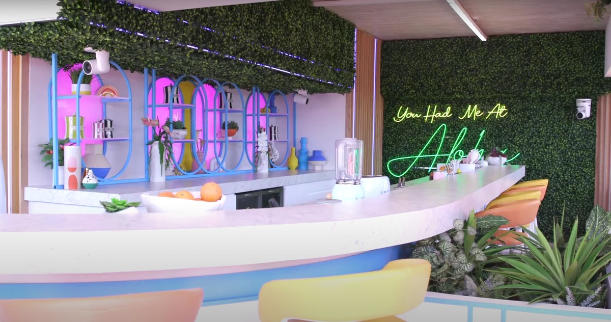 The bar at the 'Love Island' Season 3 villa, which is located in Hawaii.