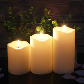 ANGELLOONG Flickering Flameless Candles (3-Pack)