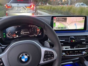 The new BMW can put turn-by-turn directions from Apple Maps in CarPlay right in the instrument clust...