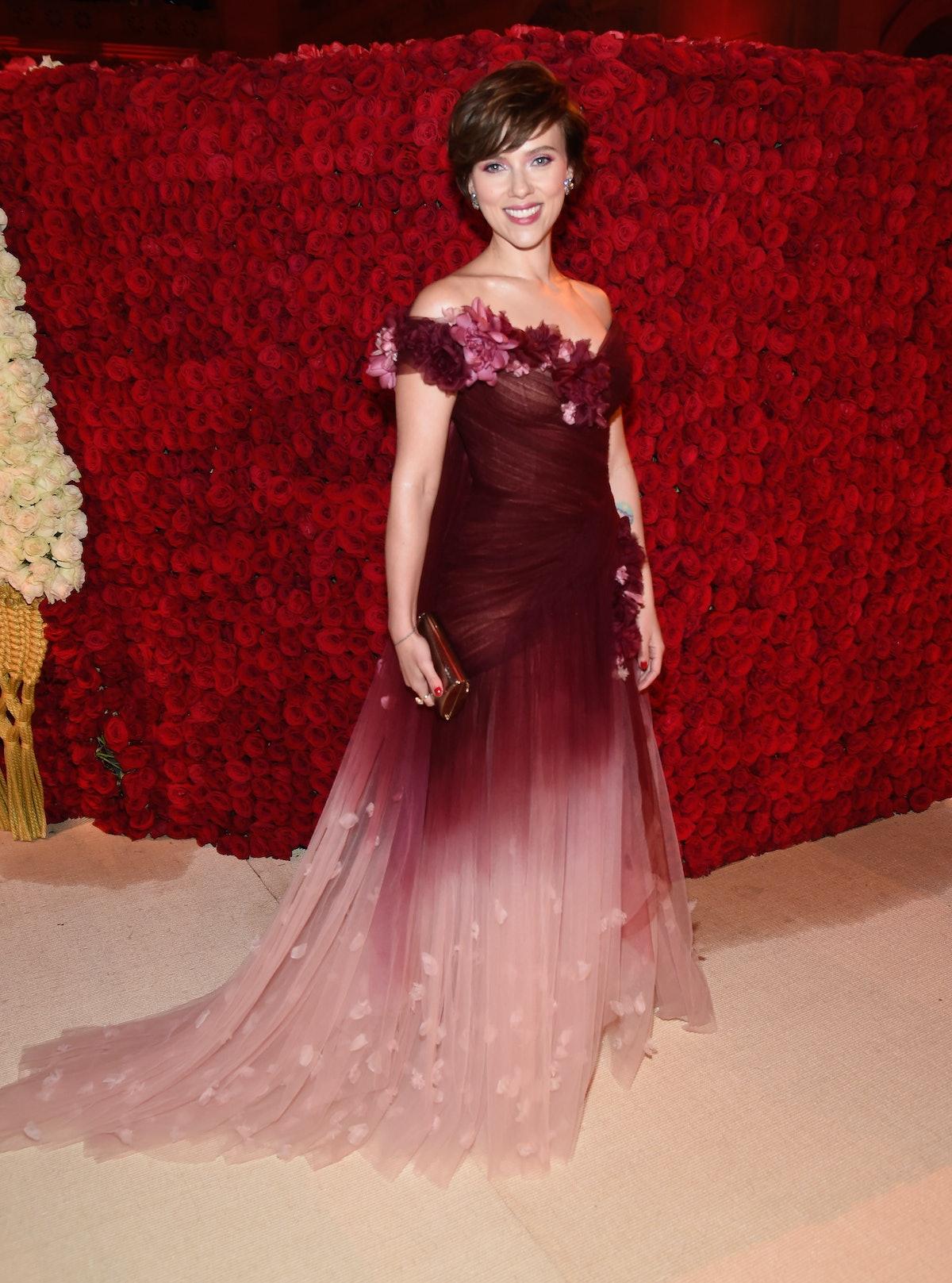 Scarlet Johansson at Met Gala.