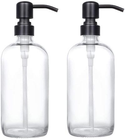 CHBKT Glass Soap Dispensers (2-Pack)