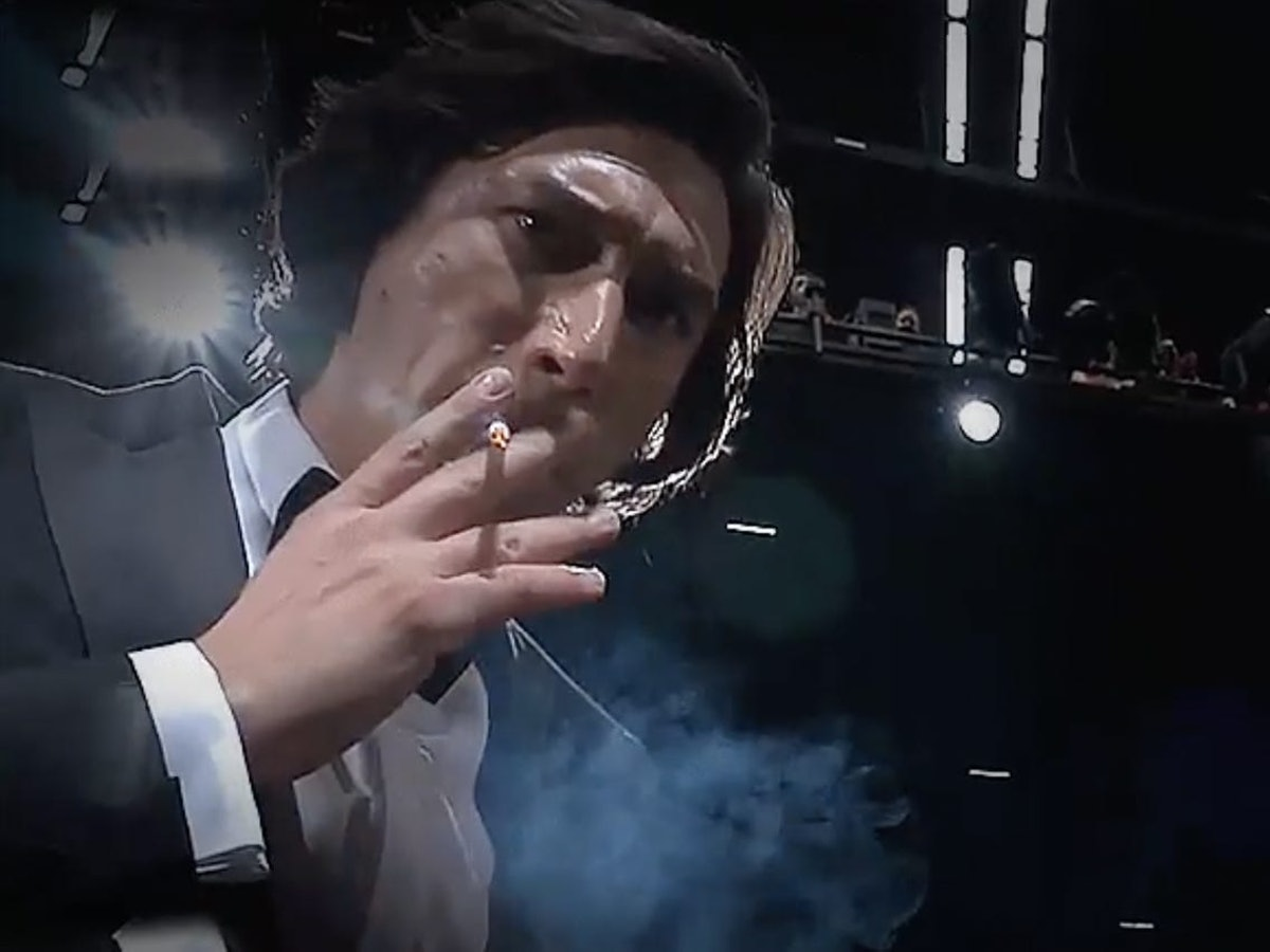 Adam Driver smokes cigarette at 'Annette' screening in Cannes