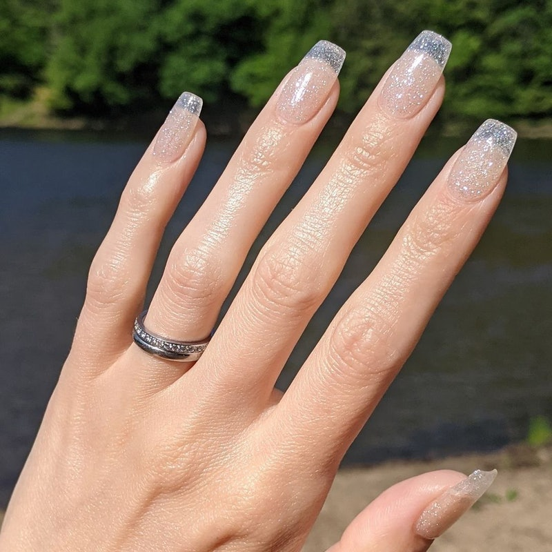 clear sparkly jelly nails