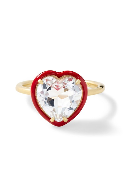 Heart-Shaped Cocktail Ring