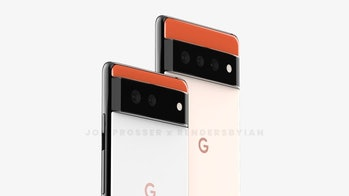 Artist renderings show what the Pixel 6 and Pro 6 Pro may look like based on leaked information.