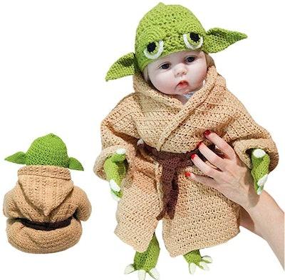 Crochet Star Wars Yoda Baby Costume Set