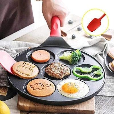 EZJOB Pancake Pan with Molds