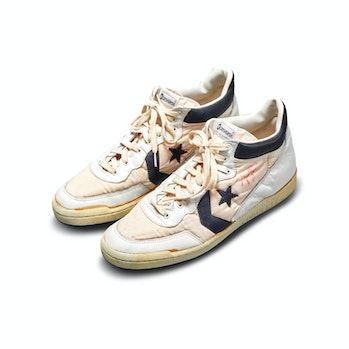 Converse Fastbreak sneakers worn by Michael Jordan during the 1984 Olympic Trials