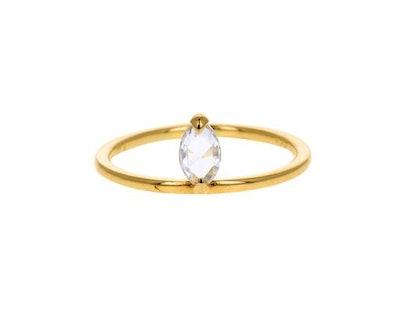 Ila Rose Cut Marquise Diamond Pietro Ring