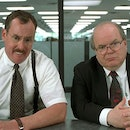 An employee gets a performance review in the film Office Space