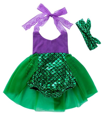 mermaid romper outfit for babies