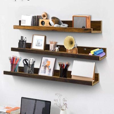 Giftgarden Floating Wall Shelves (Set of 3)