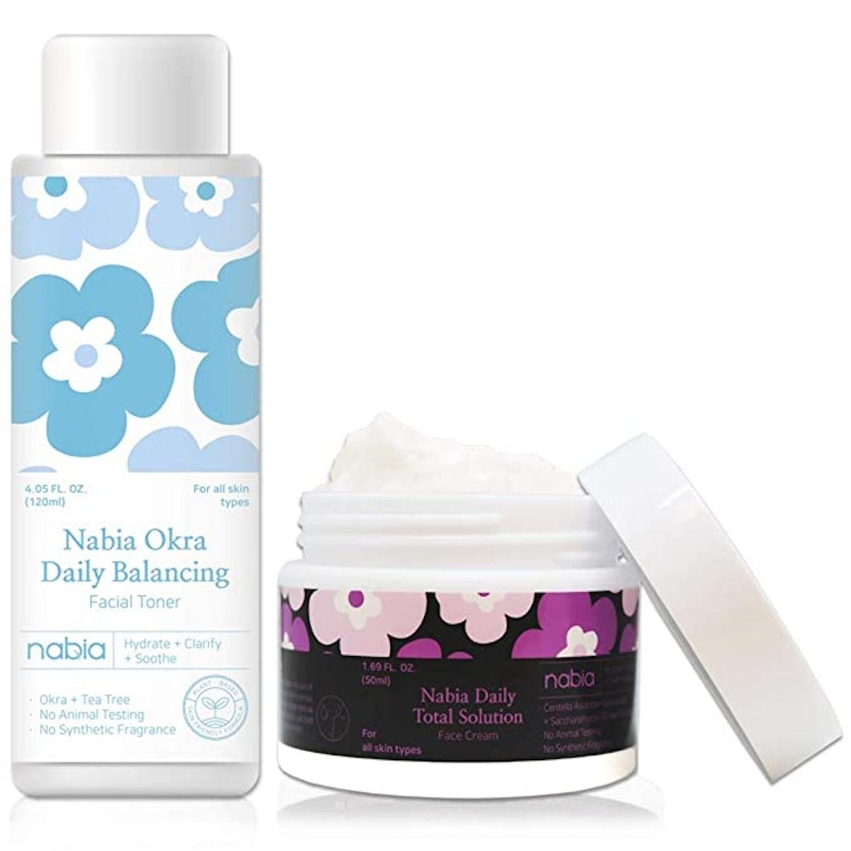 Nabia Super Hydrating Facial Toner + Cream Set