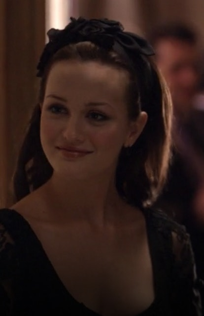 The first time Blair graced people's TV screens, it was love at first headband. The black hair accessory had big ribbon rose decals and slicked back her long curls.