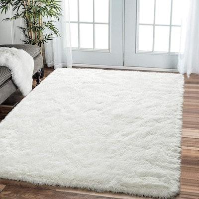 Comeet Fluffy Living Room Area Rug (5x8 Feet)