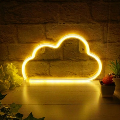 The Glowhouse White cloud led neon light sign
