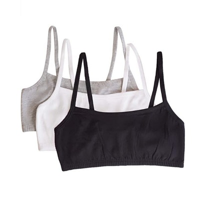 Fruit of the Loom Cotton Sports Bra (3- Pack)