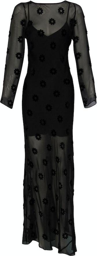 The Schiffer Dress in Devoré Daisy