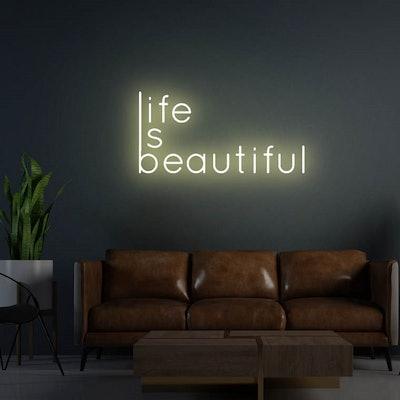 Neonholic Life Is Beautiful Neon Sign