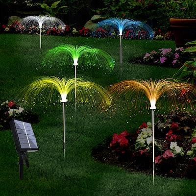 LiyuanQ Solar Flower Garden Lights (Set of 5)