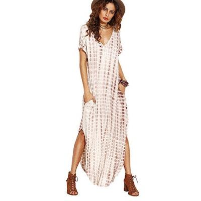 MakeMeChic Tie Dye Maxi Dress