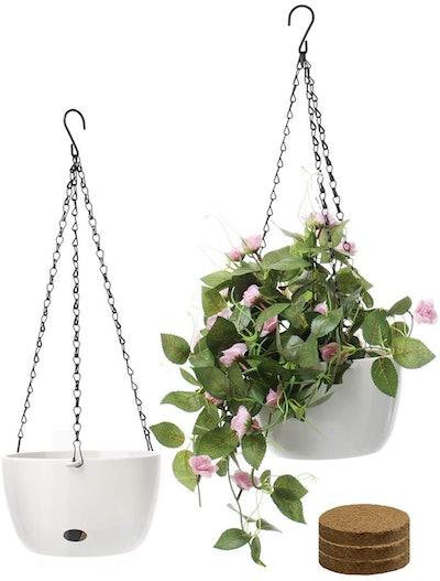 Sarosora Self Watering Hanging Planters (Set of 2)