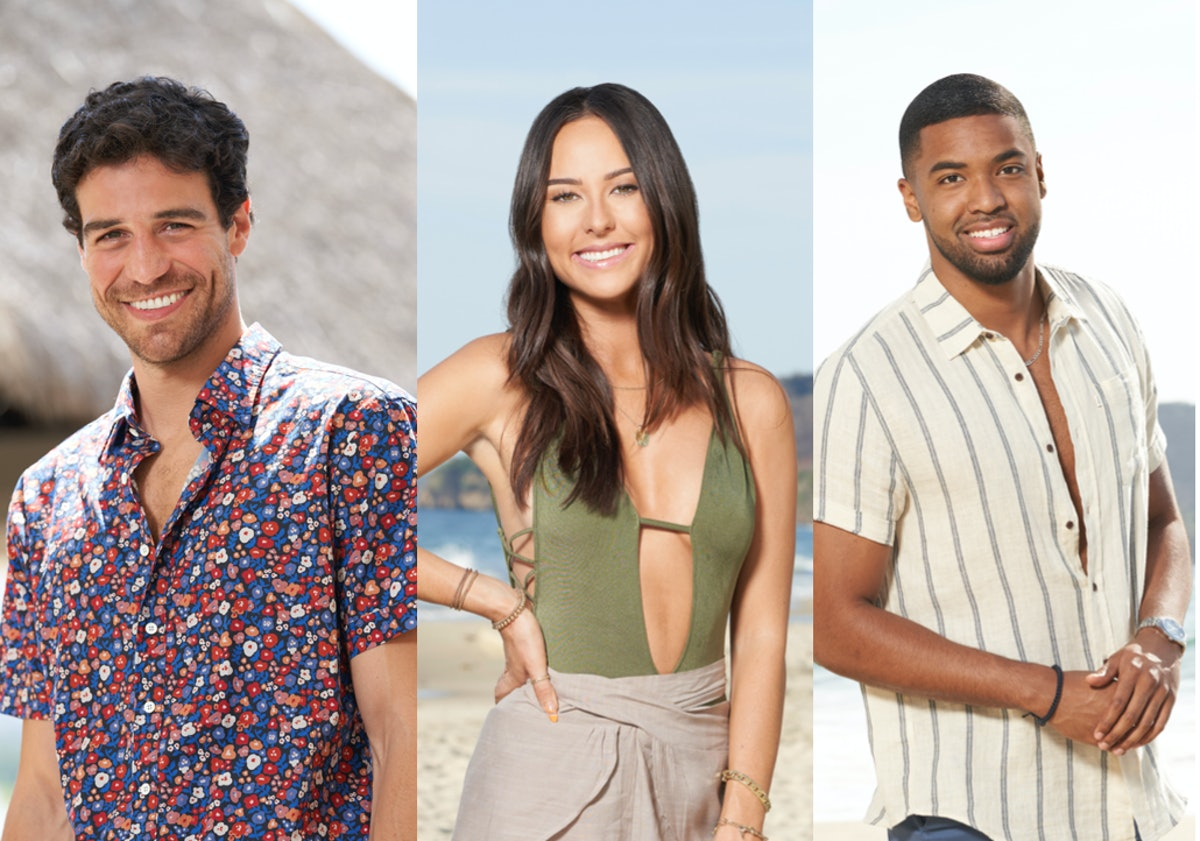 Joe Amabile, Abigail Heringer, and Ivan Hall, all part of the 'Bachelor in Paradise' Season 7 cast
